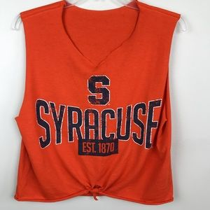 Syracuse University orange cropped tee t